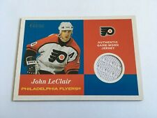 2001-02 Topps Heritage Game Used Jersey John LeClair Philadelphia Flyers Worn SP