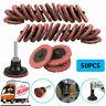 "50Pcs 2"" Medium Grit Roloc Cleaning Conditioning Roll Lock Surface Sanding Discs"