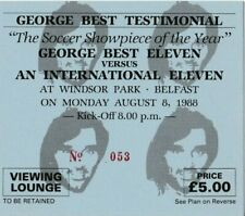 More details for rare football ticket manchester united george best xi testimonial belfast 1988
