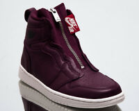 Air Jordan Wmns 1 High Zip Premium Women New Bordeaux Black Sneakers AT0575-600