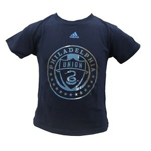 Philadelphia Union Official MLS Adidas Apparel Youth Kids Size T-Shirt New Tags