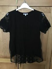 Ladies Black Top With Lace Back - New