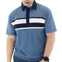 Classics by Palmland Horizontal Short Sleeve Banded Bottom Shirt with Pocket