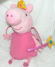 Grosse peluche princesse PEPPA PIG avec ailes couronne,baguette magique TY 45cm