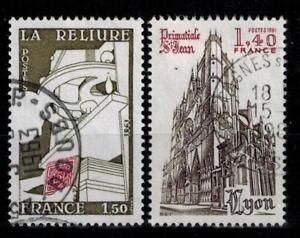 (a30) timbres France n° 2131/2132 oblitérés année 1981