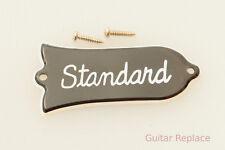 Truss Rod Cover Gibson Les Paul Standard 2 Plies Negro Cubierta Alma Tipo 2