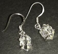 Herkimer diamond drop earrings solid Sterling Silver, New, claw set. Quartz. #2