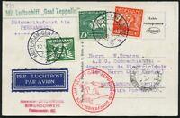 Zeppelin Niederlande 1930 Südamerikafahrt Pernambuco Zuleitungspost Si 57/463