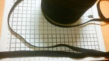 3m-Nero Cavo Piatto Elastico-Larghezza circa - 13mm