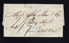 Canada 1827 Stampless Transatlantic SHIP Letter SFL Montreal to UK