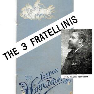 1900 London Hippodrome circus / theatre programme Fratellini Brothers Clowns