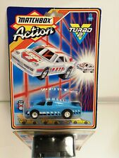 Matchbox Action Turbo 2 1987 Porsche Racer Blue New And Sealed