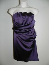 Davids Bridal Dress Plus Size 26 Plum Strapless Crumb 84835 Bridesmaid NWT $139