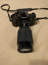 Canon A 1 Camera vintage 35mm with 70-210mm lens brass body photography antique