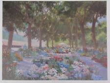 "PETER JOHNSON 1994 SIGNED ""FLOWER MARKER,BEGIEN"" UNFRAMED LTD ED 219/500 PRINT"