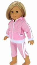 "Pink Hooded Capri Jogging Set fits 18"" American Girl Doll Clothes"
