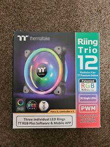 Thermaltake  Riing Trio 120mm LED RGB Radiator Fan (3 Fan Pack)