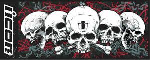 "2020 Icon Skull Motorcycle Streetbike Garage Floor Mat 31.2""x78.75"""