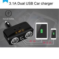 Smart Cigarette Lighter Socket & USB Car Charger DC 12-24V For Car Truck SUV Bus