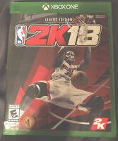 NBA 2K18: Legend Edition (Microsoft Xbox One, 2017)
