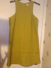 Green Zip Back slight Stretch Dress Sleeveless H&M Size UK 10 US 8