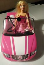 Barbie Doll Hot Pink Chevy Corvette Rc Remote Control Car Summer + Barbie doll!