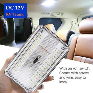 DC 12V White 36LED Roof Reading Lamp Ceiling Interior RV Trunk Light W/Switch×1
