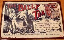 Billy Tea Metal Tin Sign Plaque Advertising Kitchen Bushells Arnotts Also Listed