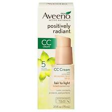 Aveeno Positively Radiant CC Cream Spf30 Fair to Light Moisturiser 2.5fl Oz 75ml