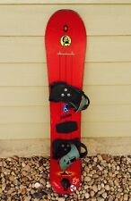 Vintage Burton Air 45 Snowboard Wood Core 143 cm with Burton Bindings READ!
