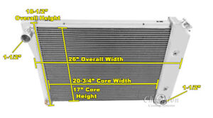 "4 Row Ace Champion Radiator 20"" Core for 1965 - 1969, 1977 - 1979 Buick Skylark"