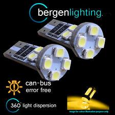 2x W5W T10 501 CANBUS NESSUN ERRORE XENO AMBRA 8 LED