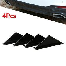 ABS Triangle Rear lip Spoiler Bumper Decorative Accessories Black Fit For Car