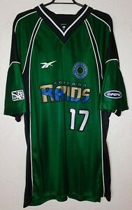 MLS Colorado Rapids Reebok 1997 Marcelo Balboa Away Soccer Jersey