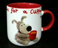 Boofle White Red Ceramic Bone China Mug Cup Time For A Cuppa
