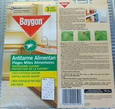 12 Conf.(36 Strisce)Baygon Striscia Antitarme Alimentari Trappola Adesiva Tarme