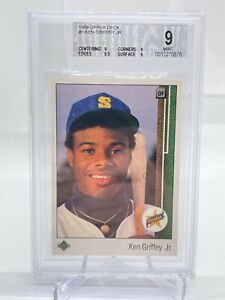 1989 Upper Deck Ken Griffey Jr. RC - Rookie Card - Graded BECKETT 9 Mint - No.1