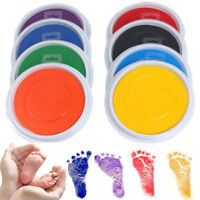 Baby Fingerprint Ink Pad Non-Toxic Safe Painting Baby Shower Handprint Footprint