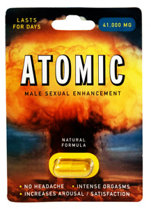 Atomic 41000 Male Sexual Enhancement Pill Natural Formula No headache Long Last