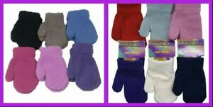 Baby/Toddler/Kids Mittens Boy / Girl - Plain/ Fluffy/Striped - Assorted Colours