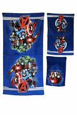 Marvel Avengers 3-piece Bath Hand Fingertip Towel Set Beach Pool Child Gift NEW