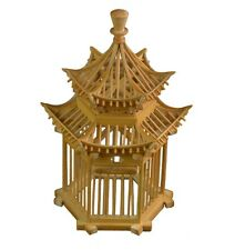Chinese Hexagonal Pavilion Bamboo Cricket Cage Grasshopper Small Animal Pet Home