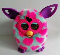 Furby Boom 2012 Blue with Pink Spots Electronic Pet Toy Hasbro Tested Working