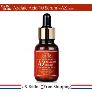 Cos De Baha 10% Azelaic Acid Serum 30mL AZ Serum Reduce White Blackhed US Seller