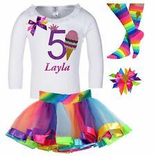 Bubblegum Divas 5th Birthday Outfit Strawberry Ice Cream Long Sleeve Shirt 5