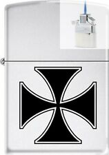 Zippo ZCB62204 Iron Cross Lighter & Z-PLUS INSERT BUNDLE
