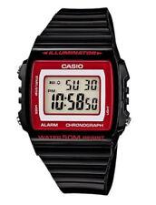 Casio Illuminator Unisex Digital Watch Casual Black Band W-215h-1a2