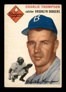 1954 Topps Set Break # 209 Charlie Thompson VG *OBGcards*