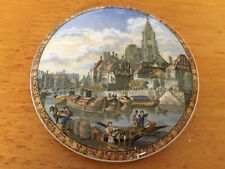 antique prattware pot lid View Of Strasbourg