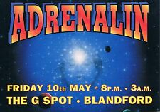 ADRENALIN Rave Flyer Flyers year unknown A5 The G Spot Blandford